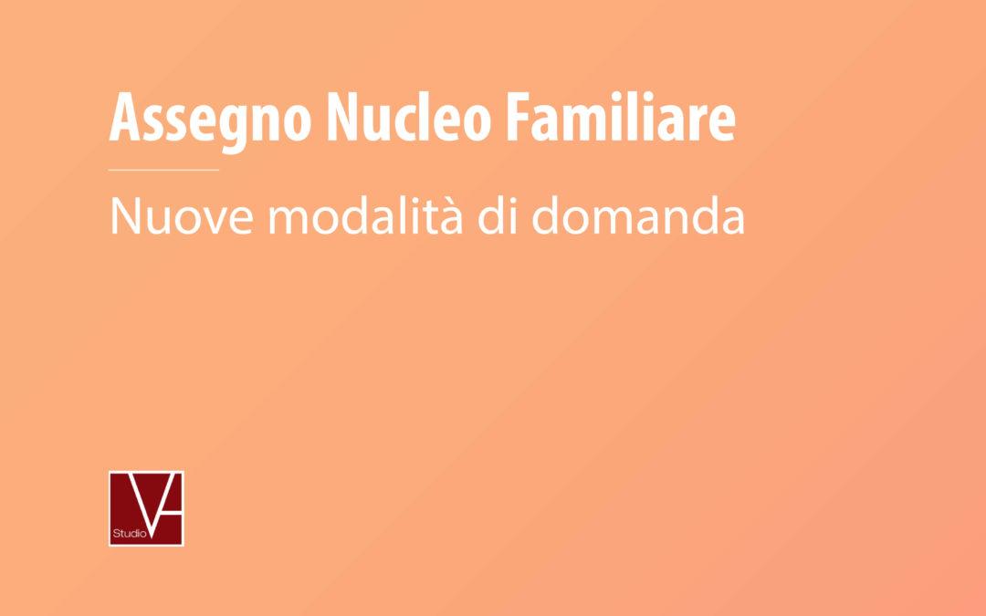 Assegno Nucleo Familiare 2019 – Nuove modalità per la domanda